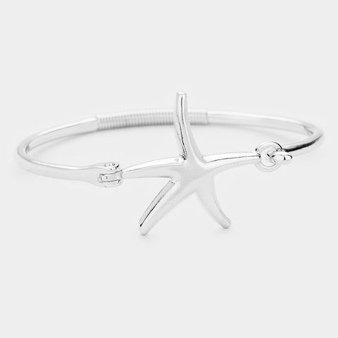 Starfish Metal Hook Bracelet