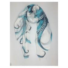 Octopus Blue Scarf