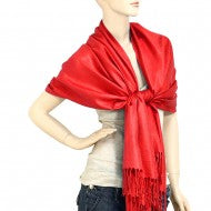 Solid Pashmina Red