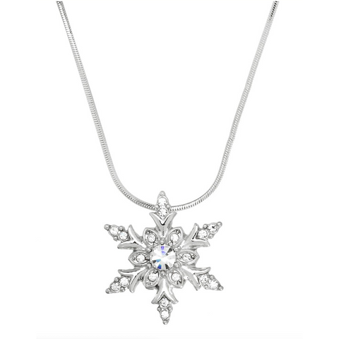 Snowflake Pendant Necklace 11.J0413-CR