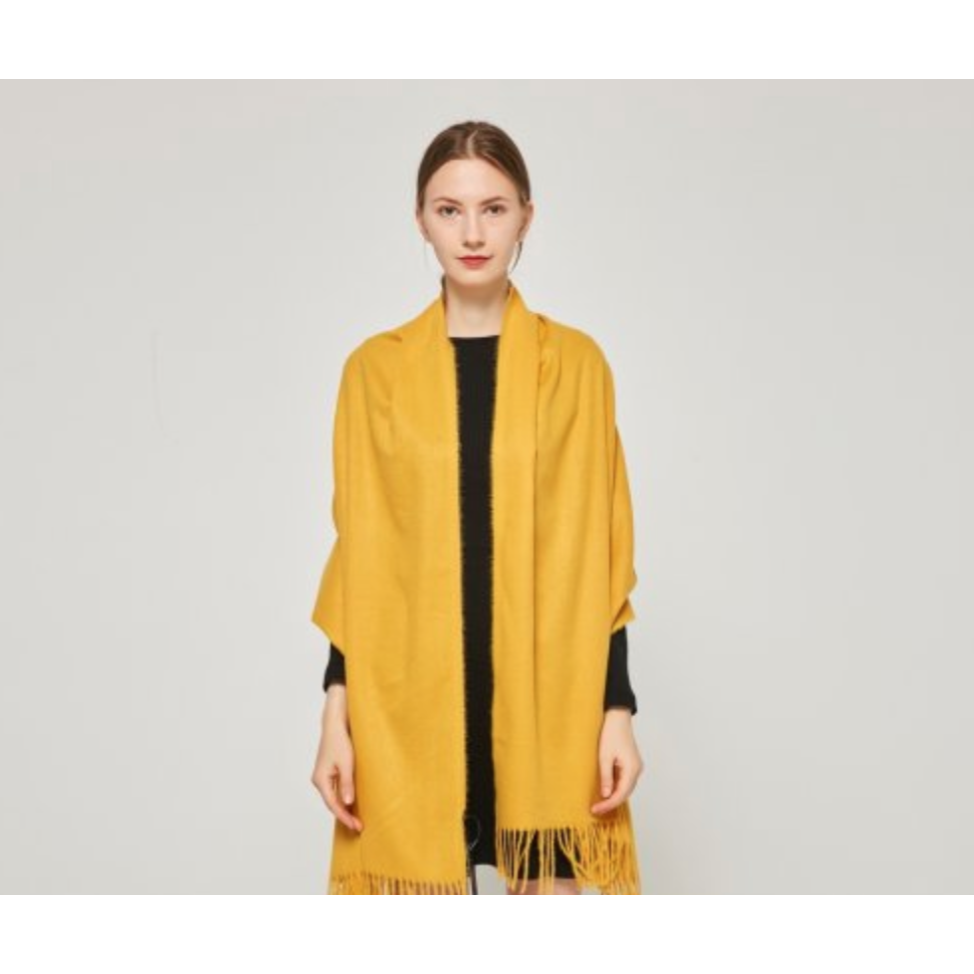 Cashmere Touch Solid Shawl Golden Yellow