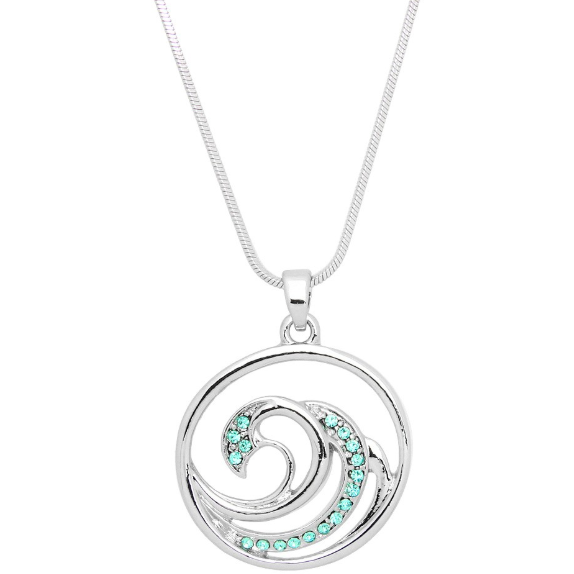 Wave Pendant Necklace