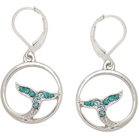Whale Tail Earring Aqua 10.E0728