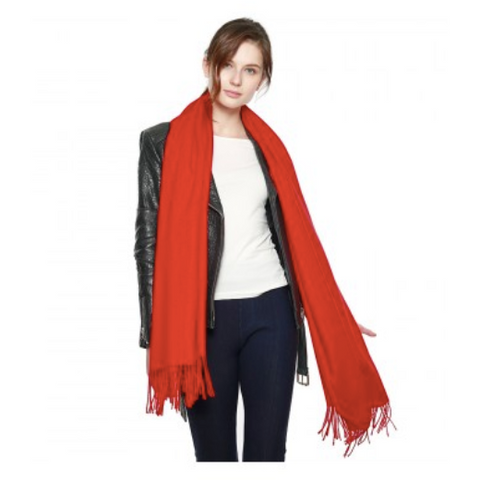 Cashmere Feel Shawl CS8440 Red