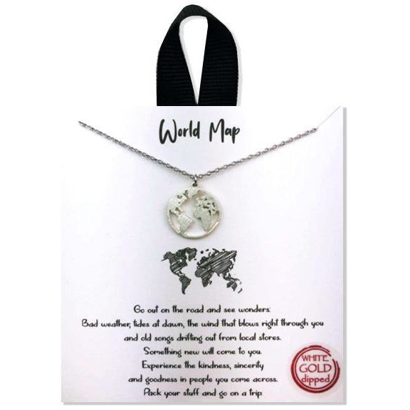 """World Map"" Pendant Necklace"