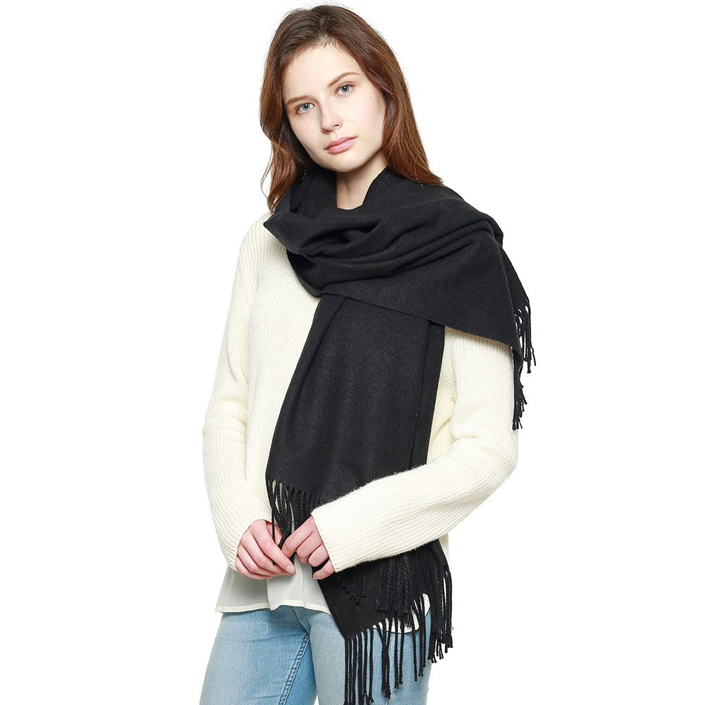 Cashmere Feel Shawl Black AZ2110