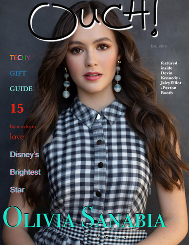 Actress Olivia Sanabia  Covers Dec 2019 Ouch Magazine - OUCH MAGAZINE