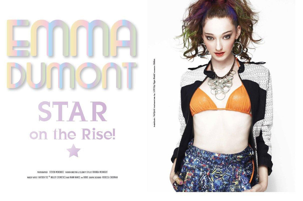 Actress Emma Dumont covered ouch! magazine