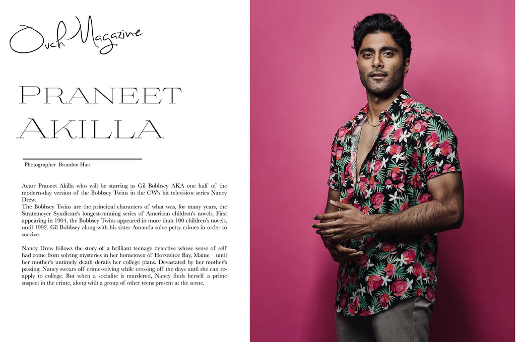 Actor Praneet Akilla Ones to Watch in Ouch Magazine