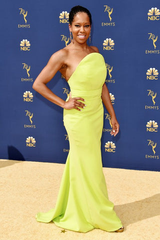Regina King Wearing custom Christian Siriano.