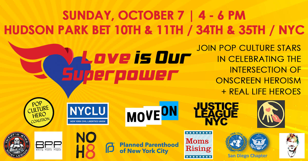 1st-Ever Justice Rally during NY Comic-Con