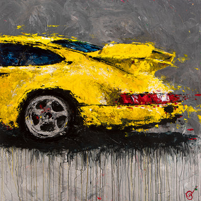 Abstracted Air 2 - 1994 911 964 Carrera RS 3.8 - Giclée