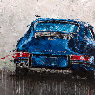 Abstracted Air 3 - 1967 911S - Giclée