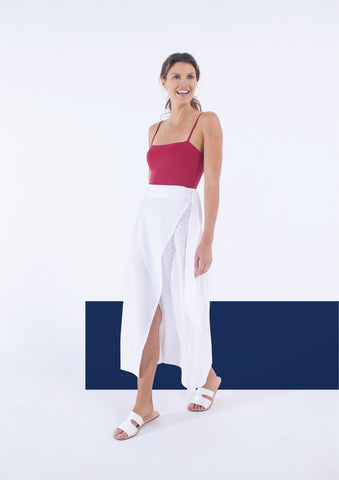 The Laila Wrap Skirt - Broderie Anglaise