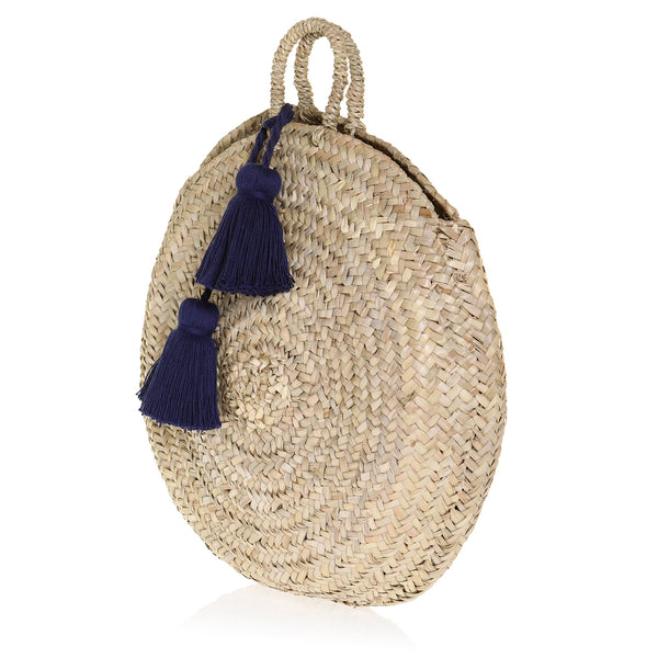 The Sally Round Basket - Navy