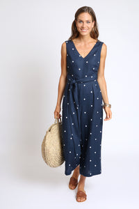 The Mary Jumpsuit - Navy Spot