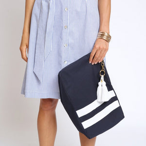 The Anna Resort Clutch - Navy
