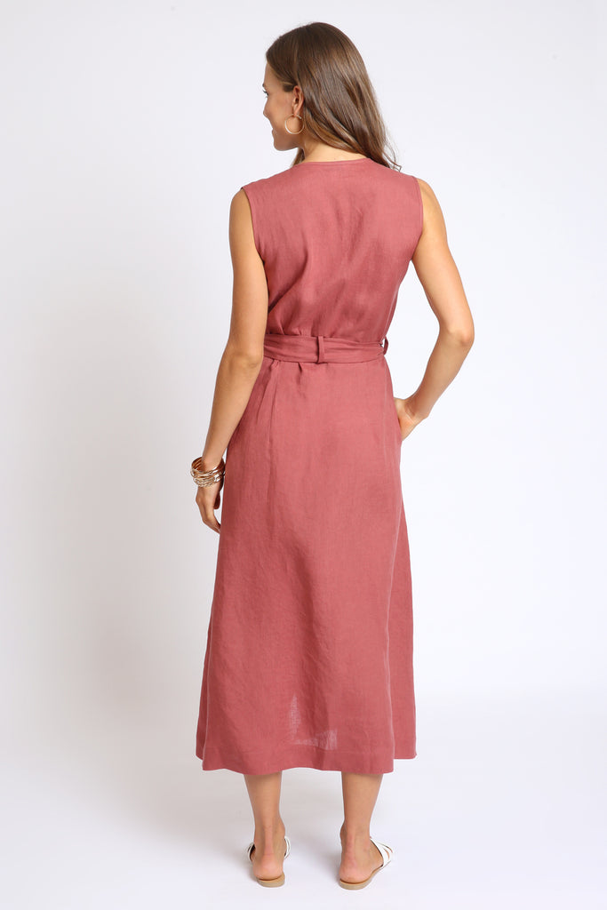 The Nella Wrap Dress - Dark Clay