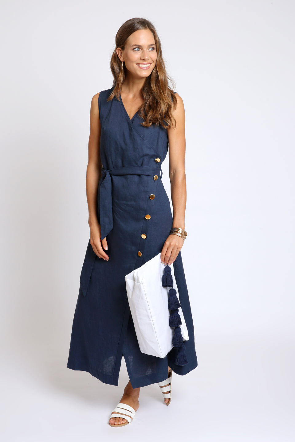 The Nella Wrap Dress - Navy