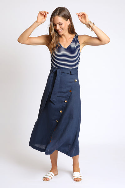 The Teresa Tank - Navy Stripe