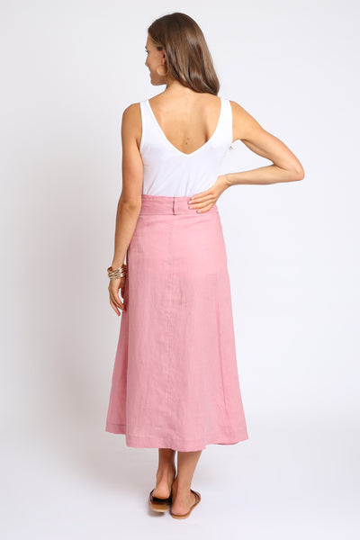 The Laila Wrap Skirt - Light Clay