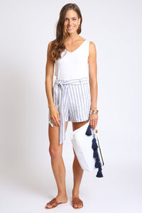 The Shelly Short - Navy Stripe