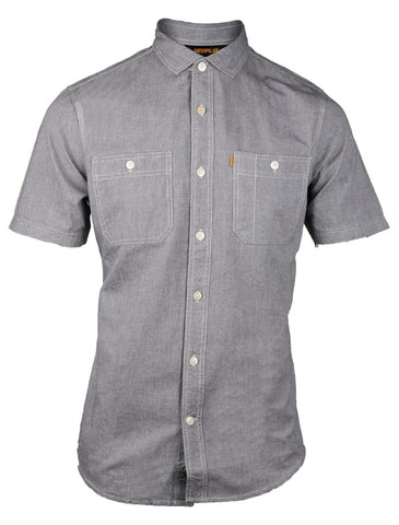 Grey Fundamental Shorts Sleeve Shirt