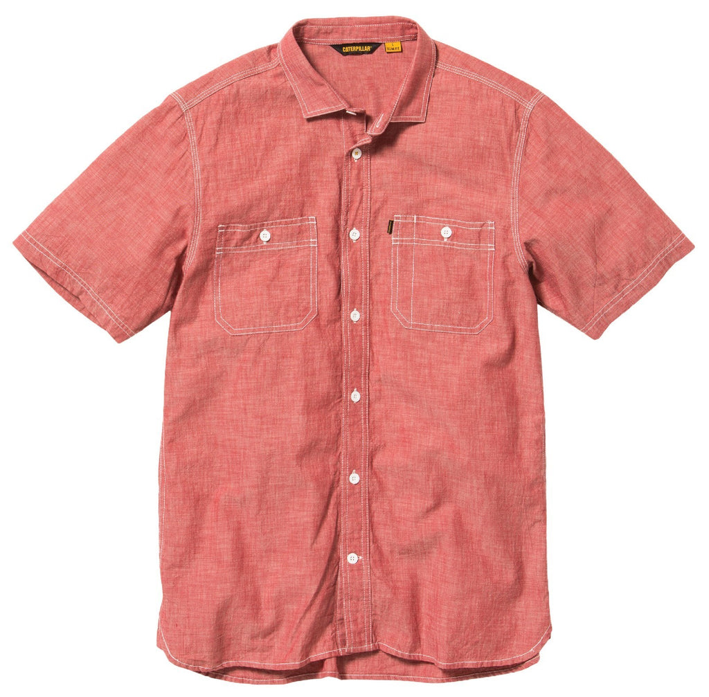 Fundamental Shorts Sleeve Shirt Red