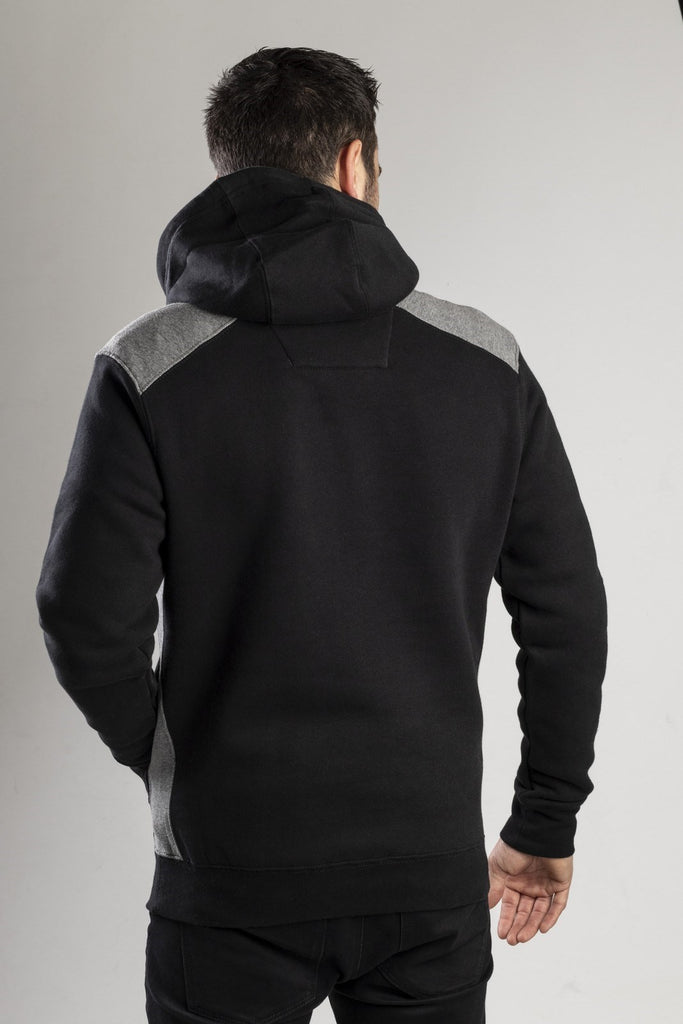 Logo Panel Hooded Sweatshirt  Black
