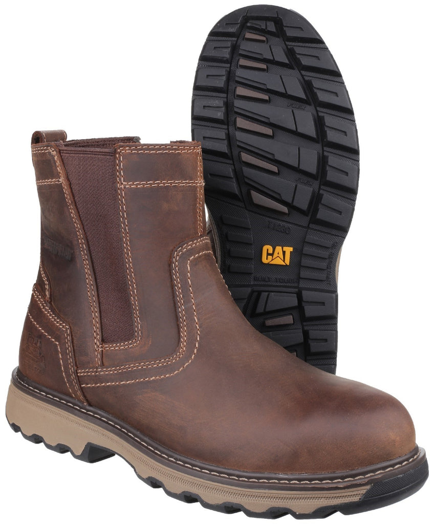 Steel Toe Available Caterpillar Men/'s Pelton Dark Beige Brown Work Boot