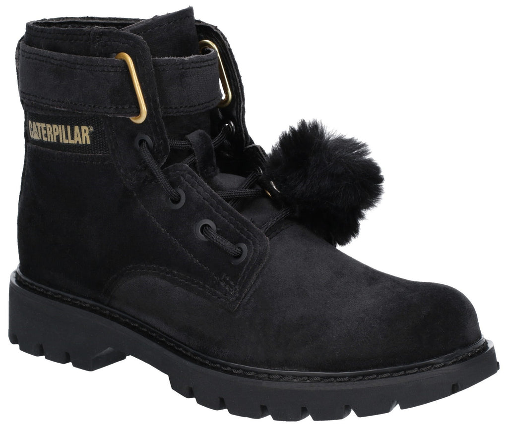 Conversion Velvet Ankle Boot  Black