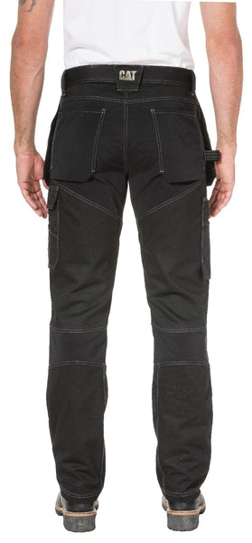 Black Floor Layer Flex Trouser