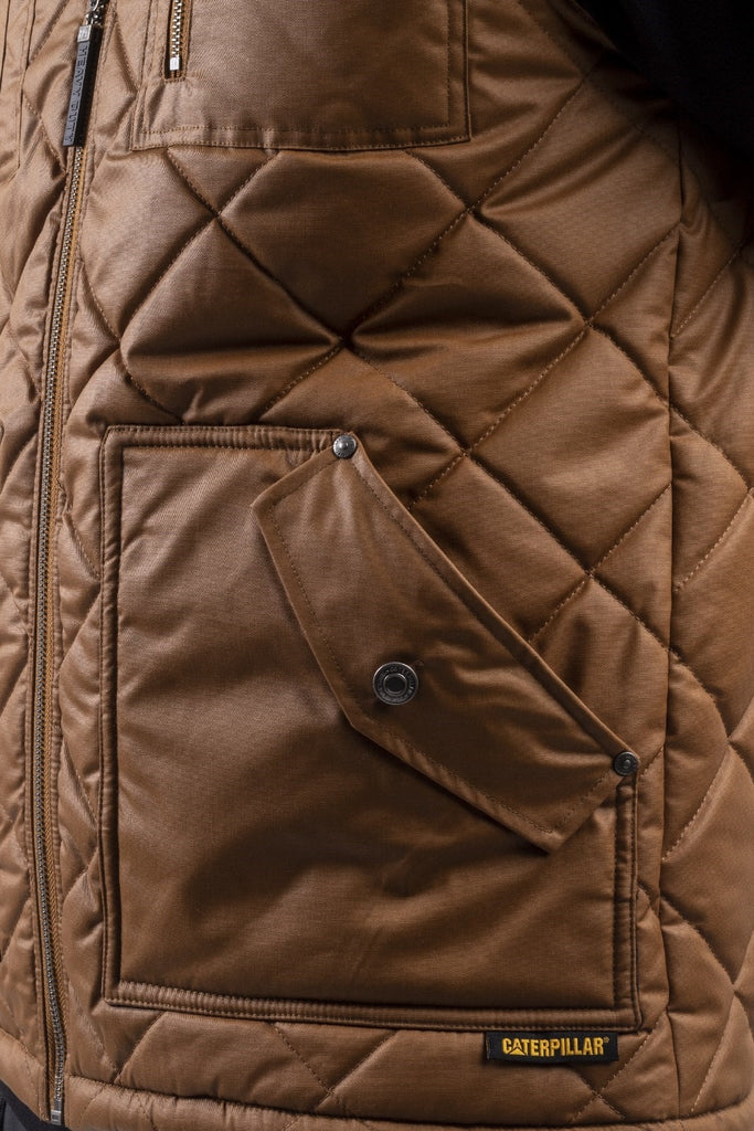 Waxed Cotton Vest  Bronze