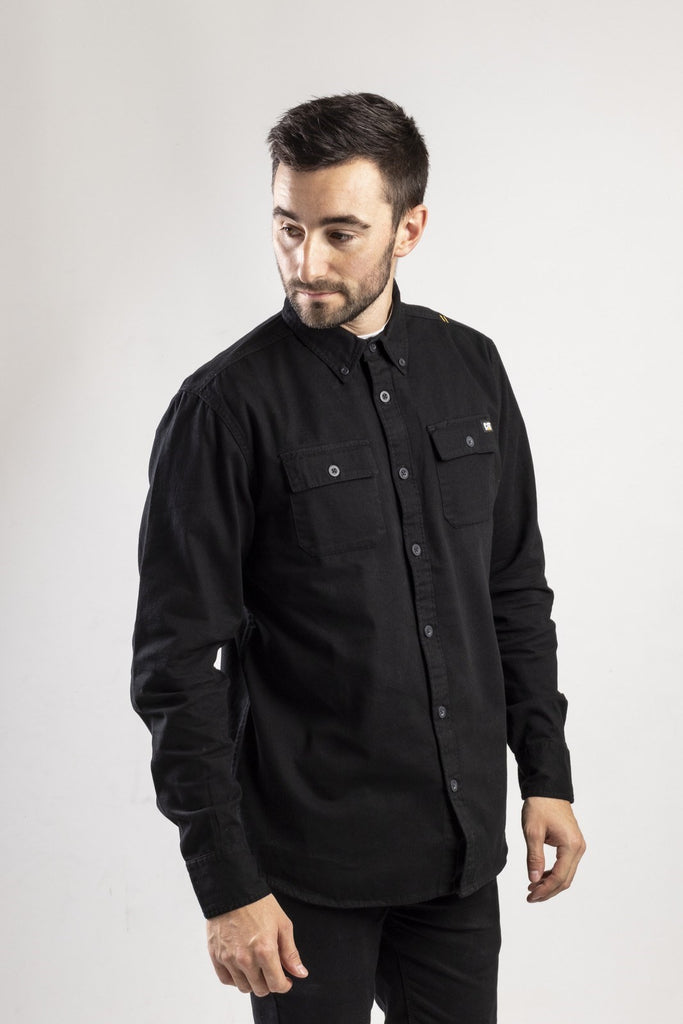 Button Up L/S Shirt  Black