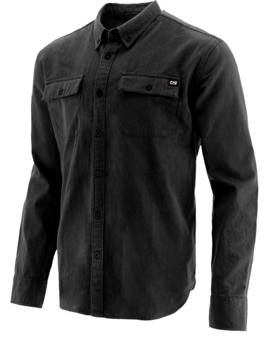 Black Button Up L/S Shirt