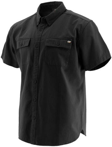 Black Button Up S/S Shirt