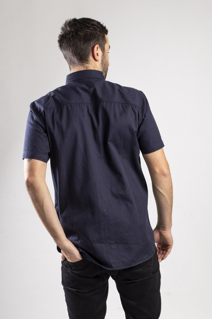 Button Up S/S Shirt  Navy