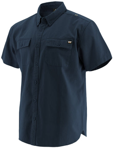 Navy Button Up S/S Shirt