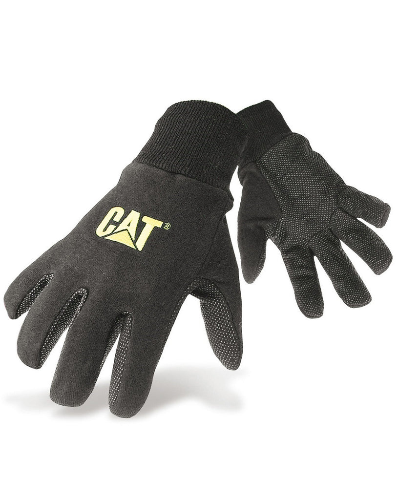 Jersey Dotted Glove  Black