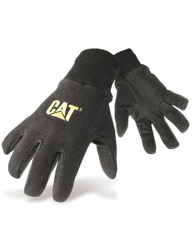 Black Jersey Dotted Glove