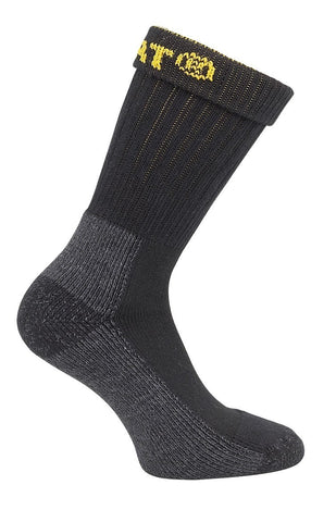 Black Industrial Work Sock 2-Pack