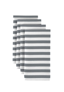 "Grey Small Stripes 18""x18"" 1 dozen"