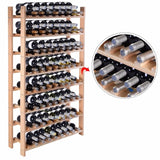 120 Bottle Wood Wine Rack 8 Tier