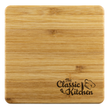The Classic Kitchen Bamboo Coaster Set of 4