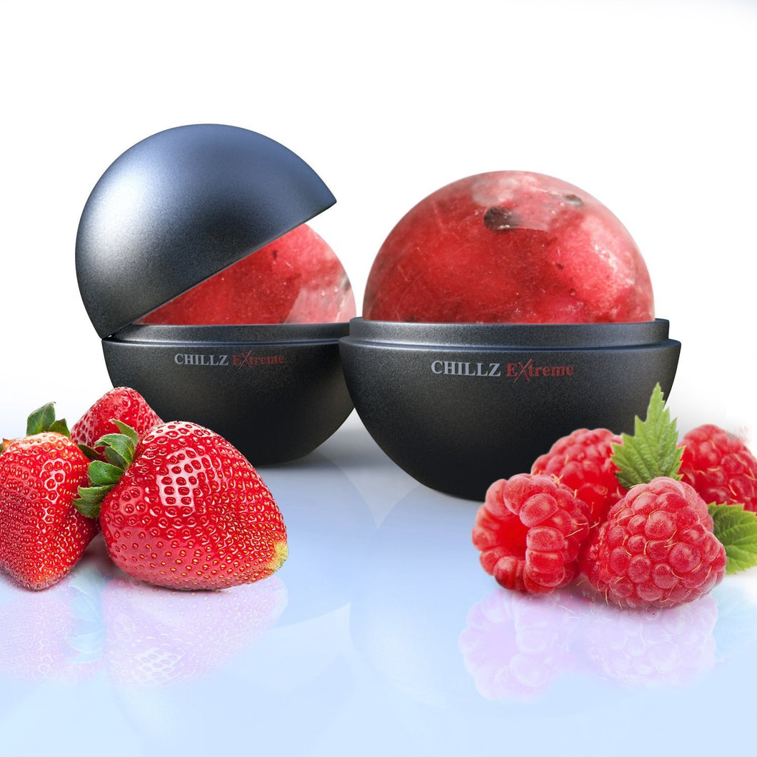 Chillz Ice Ball Maker - Molds 2 X 2.5 inch Round Ice Balls