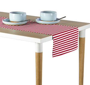 "Red Small Stripes Table Runner 12""x72"""