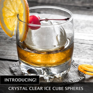 Chillz Clear Ice Ball Mold Maker, Shapes 2 Large Ice Spheres For Whiskey