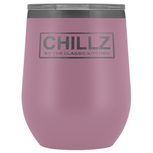 Chillz 12oz. Stemless Stainless Steel Wine Tumbler