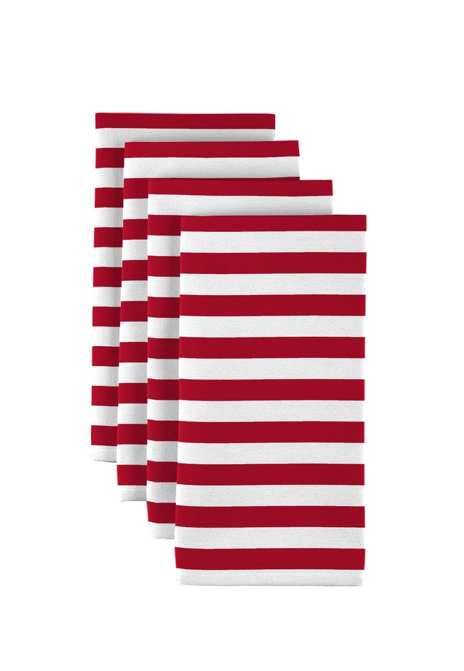 "Red Small Stripes 18""x18"" 1 dozen"