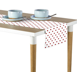 "Red Nautical Dots Table Runner 12""x72"""